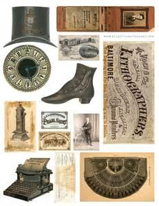 Decoupage Shoebox - free vintage graphics collage sheet no 1 avalon