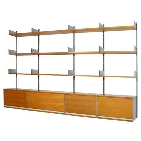 1960s dieter rams 606 beechwood and aluminium modular