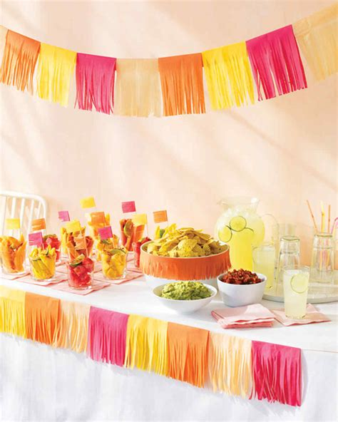 How To Make Mexican Paper Banners - cinco de mayo tissue paper decorations martha stewart