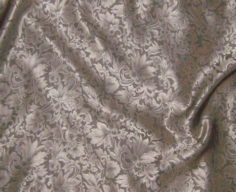 silk jacquard fabric beige leaves scroll 1 3 yard by silkfabric