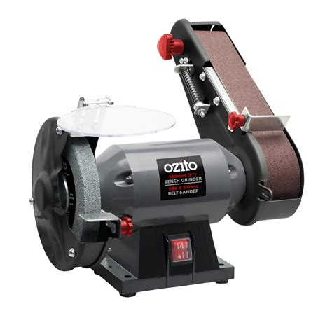 ozito 240w bench grinder and belt sander bunnings warehouse