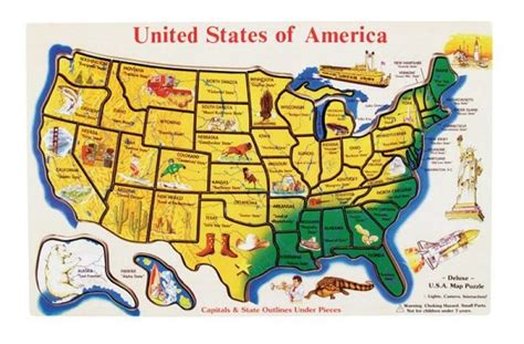 united states map puzzle states and capitals usa map wooden jigsaw puzzle a mighty