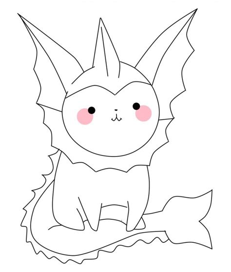 vaporeon coloring pages az coloring pages