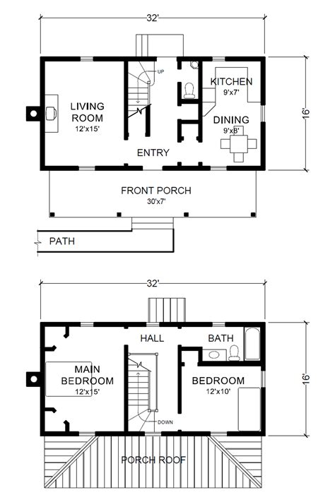 two story 16 x 32 virginia farmhouse house plans 2 story