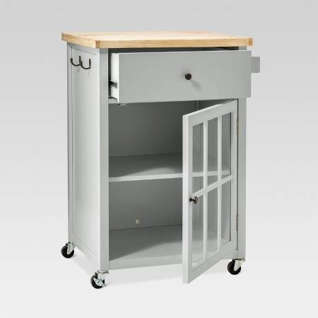 windham wood top kitchen cart threshold target