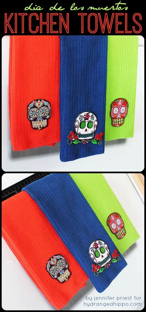Mexican Home Decor Stores by Dia De Los Muertos Kitchen Towels