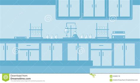 vector illustration layout background of laboratory interior stock vector image