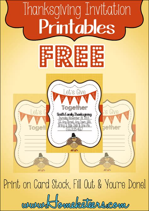 Thanksgiving Potluck Invitation Template Free Printable 9 Best Images Of Free Printable Thanksgiving Invitations Free Printable Thanksgiving Potluck