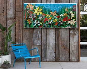 Garden Glass Patios Reviews by Mosaic Wall Stained Glass Wall Decor Floral Garden Indoor