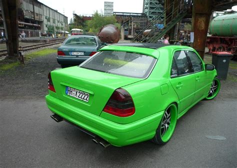 green mercedes benz benztuning mercedes benz c class w202 green