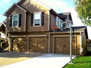how big is a double garage door