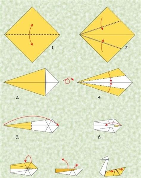 Origami Goose Diagrams - how to make 3d origami origami for paper airplanes