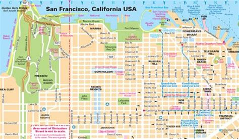 san francisco map attractions pdf san francisco maps for visitors bay city guide san