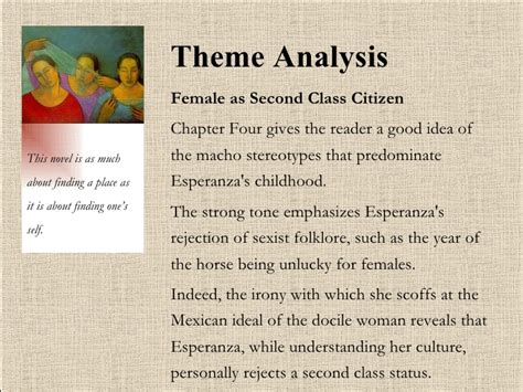 house on mango street themes for each chapter theme of female as second class citizen