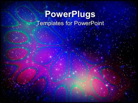 Powerpoint Template Abstract Flower In Light Stars On Galaxy Ppt Template Free