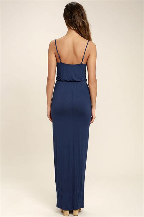 At Maxi 38 Navy navy blue dress maxi dress sleeveless maxi 38 00