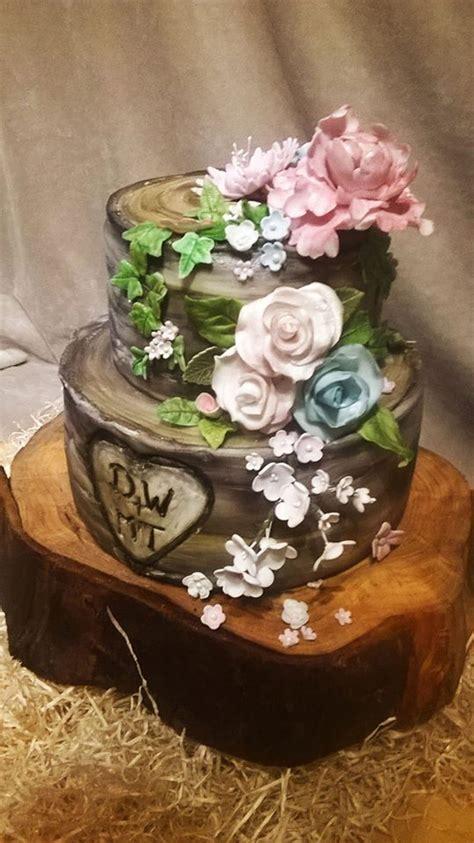 silver birch wedding cake cakecentralcom
