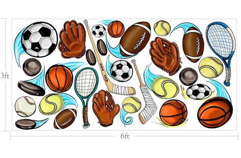 Baseball Murals For Walls muralistick com sports balls wall 2