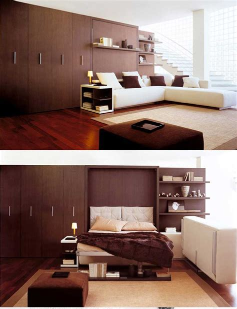wall beds space saving furniture  bedroom living room