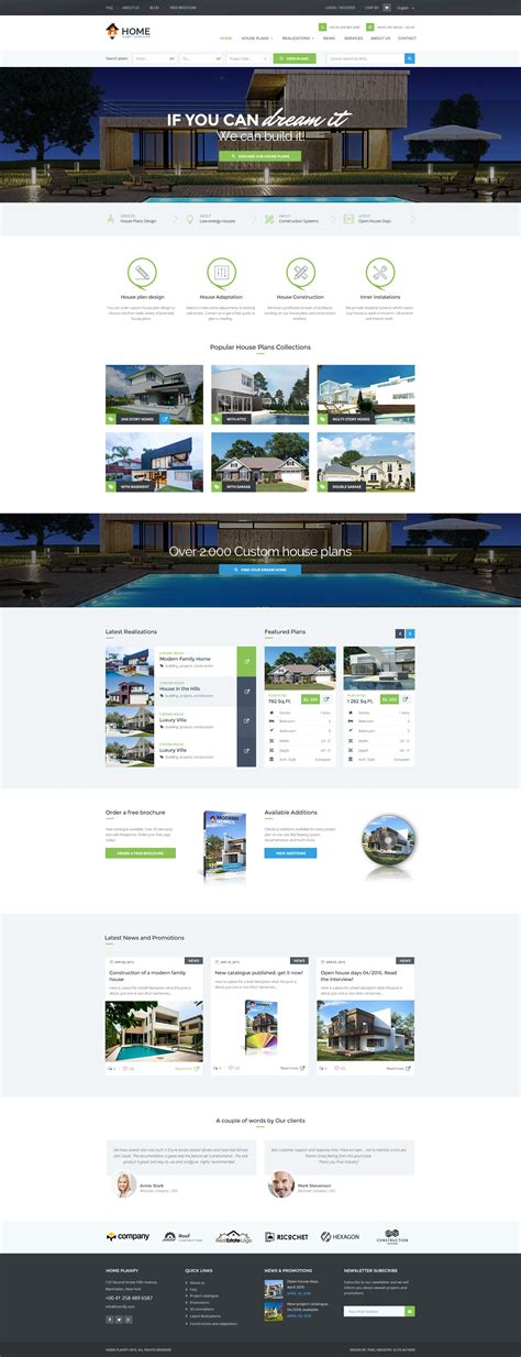 house design templates home planify house plans construction psd template by pixel luxamcc