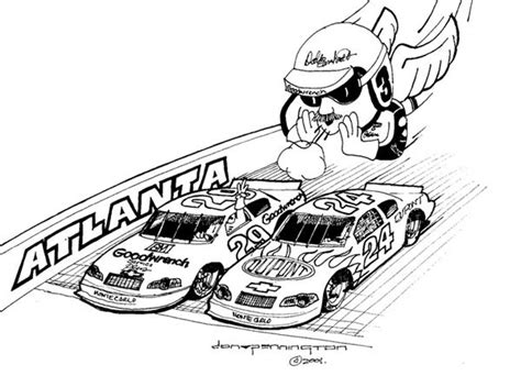 dale earnhardt coloring page dale earnhardt the man in black the intimidator