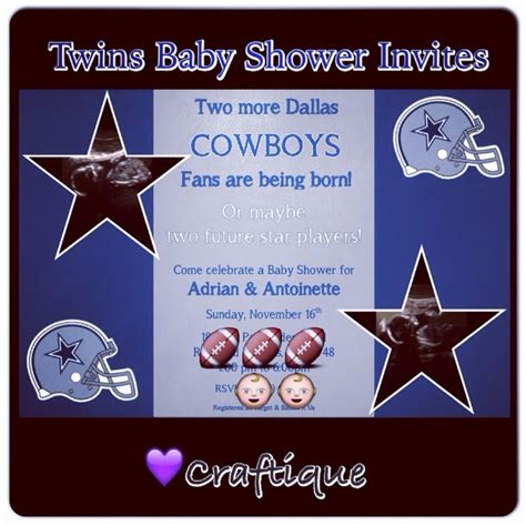 Dallas Cowboys Baby Shower Invitations by 17 Best Images About Craftique Creations On