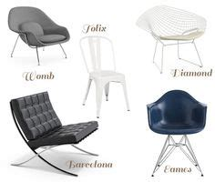 iconic chairs of 20th century pin by susana frankel on design pinterest