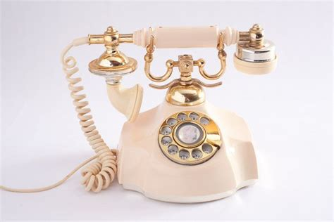 vintage rotary phone cream glam shabby chic victorian shabby chic cream and shops