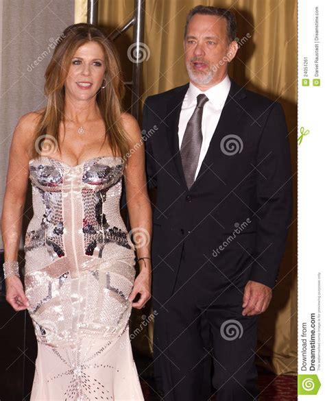 american actor tom hanks   wife rita wilson