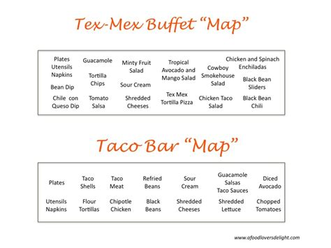 ideas stin up tex mex buffet ideas archives a food lover s delight