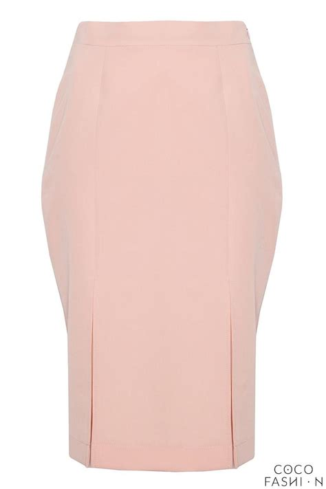 light pink bussiness style pencil skirt