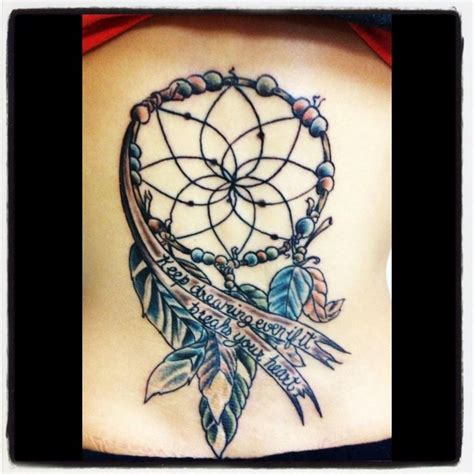 tattoo w lyrics quot keep dreaming even if it breaks your heart quot dream catcher
