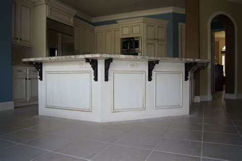 New Trends In Kitchen Design by Kitchen Island Countertop Overhang Corbels For Granite
