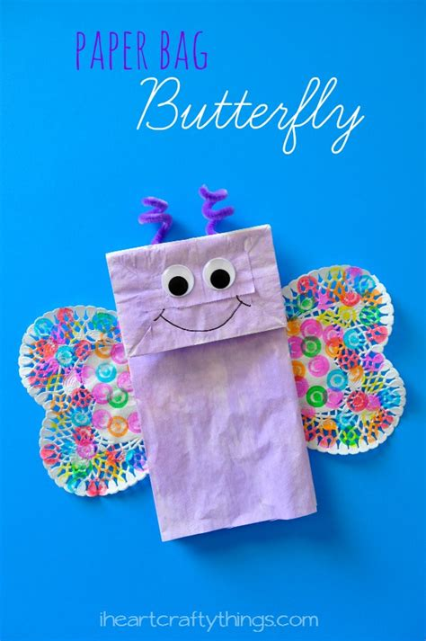 Paper Bag Craft - paper bag butterfly craft i crafty things