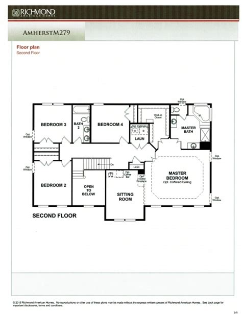 richmond american home floor plans shelton woods subdivision stafford county northern