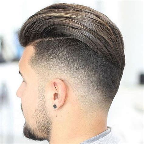 rockabilly rear view of men s haircuts slicked back undercut hairstyle 2018