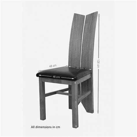 Oak And Black Dining Chairs Tulip Solid Oak Dining Chair Black Leather