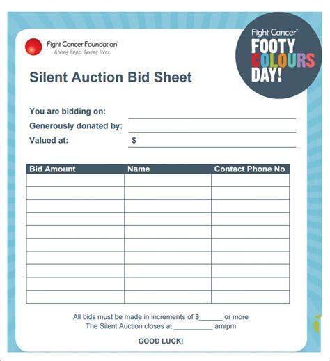 10 silent auction bid sheet template cashier resume