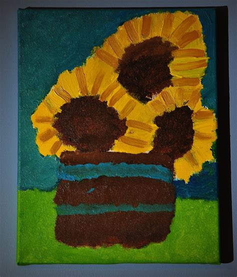 painting for 6 year olds scrapcrazyyyy 6 year s sunflower painting