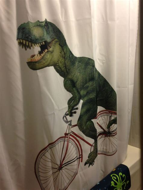 dinosaur shower curtain bathroom ideas
