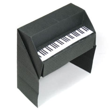 Origami Piano - how to make a 3d origami piano page 1
