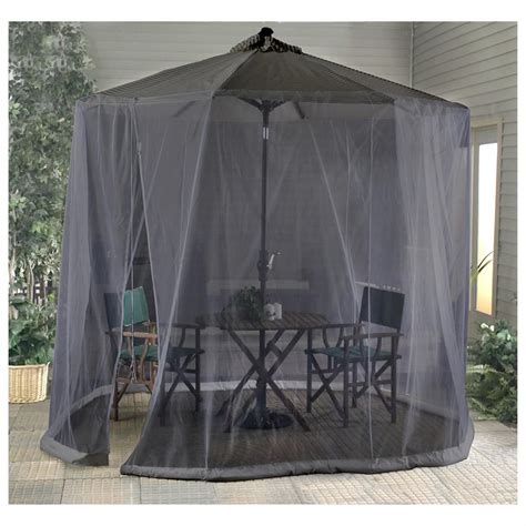 Patio Umbrella With Screen Enclosure Outdoor Patio Umbrella Screen 177297 Patio Umbrellas At Sportsman S Guide