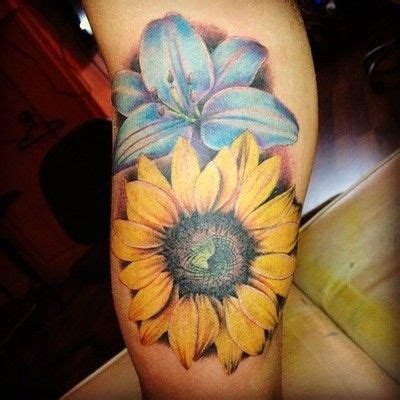 watercolor tattoo singapore sunflower this