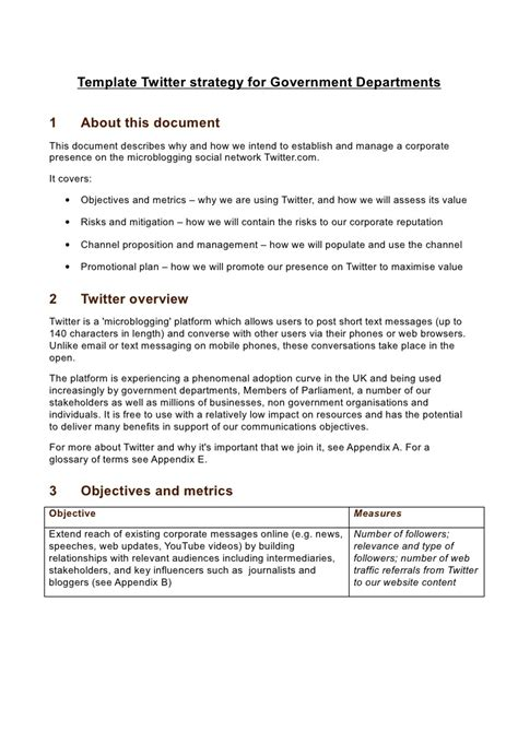 strategy document template template strategy for government departments