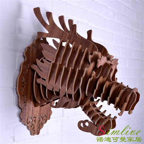 dragon decorations for a home aliexpress com buy diy wooden dragon head for wall