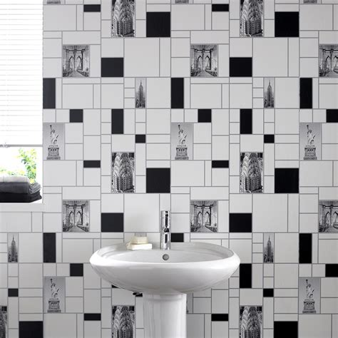 wallpaper for kitchen and bathroom graham brown contour nyc tile new york kitchen bathroom