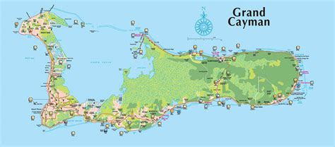 map of grand grand cayman tourist map mappery