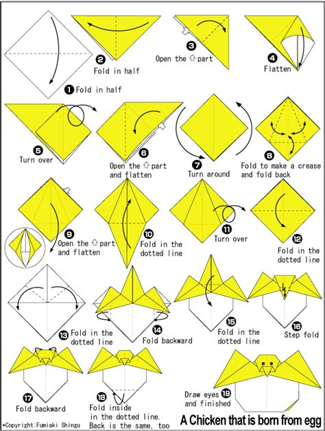 how to make origami easter eggs chicken that is born from egg easy origami