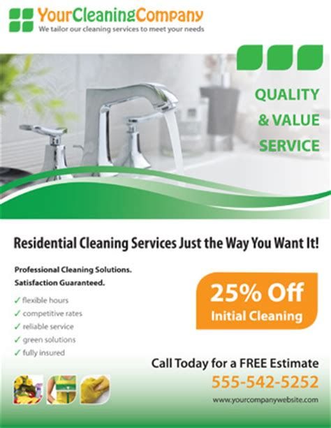 residential cleaning flyers free promote your cleaning company with this house cleaning