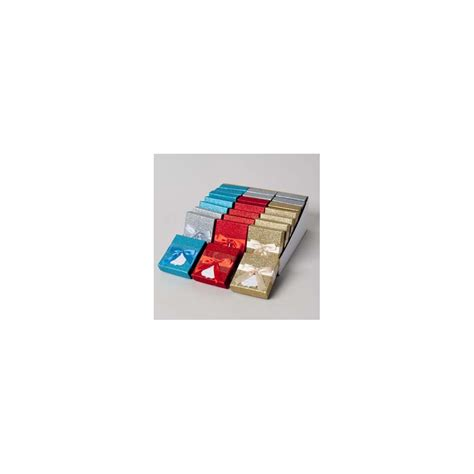 Pdq Gift Card - 48 units of gift card holder glitter 4ast colors w satin ribbon 24pc pdq party easy